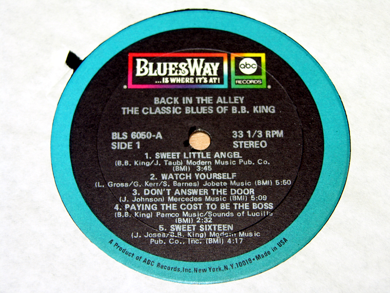 BB King Back In The Alley The Classic Blues Of BBKing