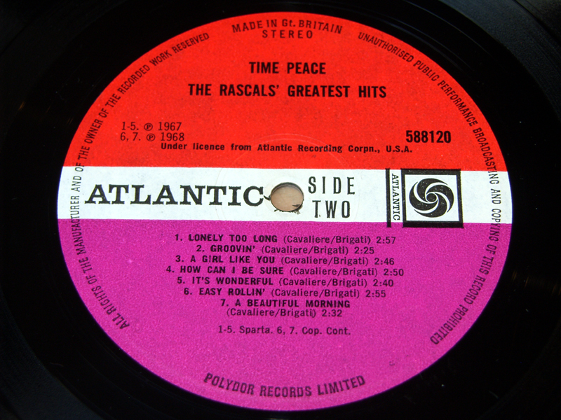 Ex The Rascals Time Peace Greatest Hits 1968